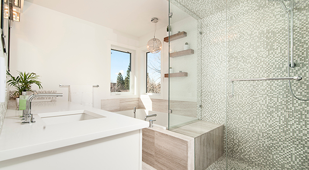 Nice bathroom modern tiles