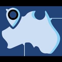 australia blue with big