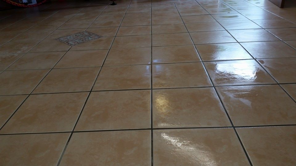 freshly cleaned tiles