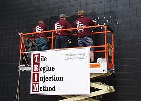 Trim repair team on forklift