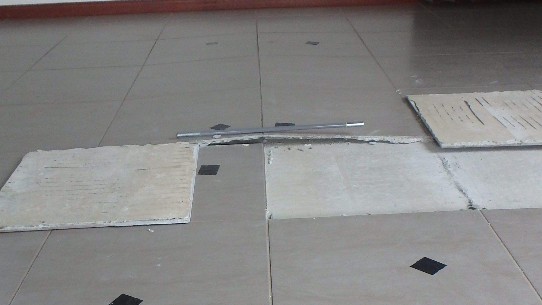 tiles protruding