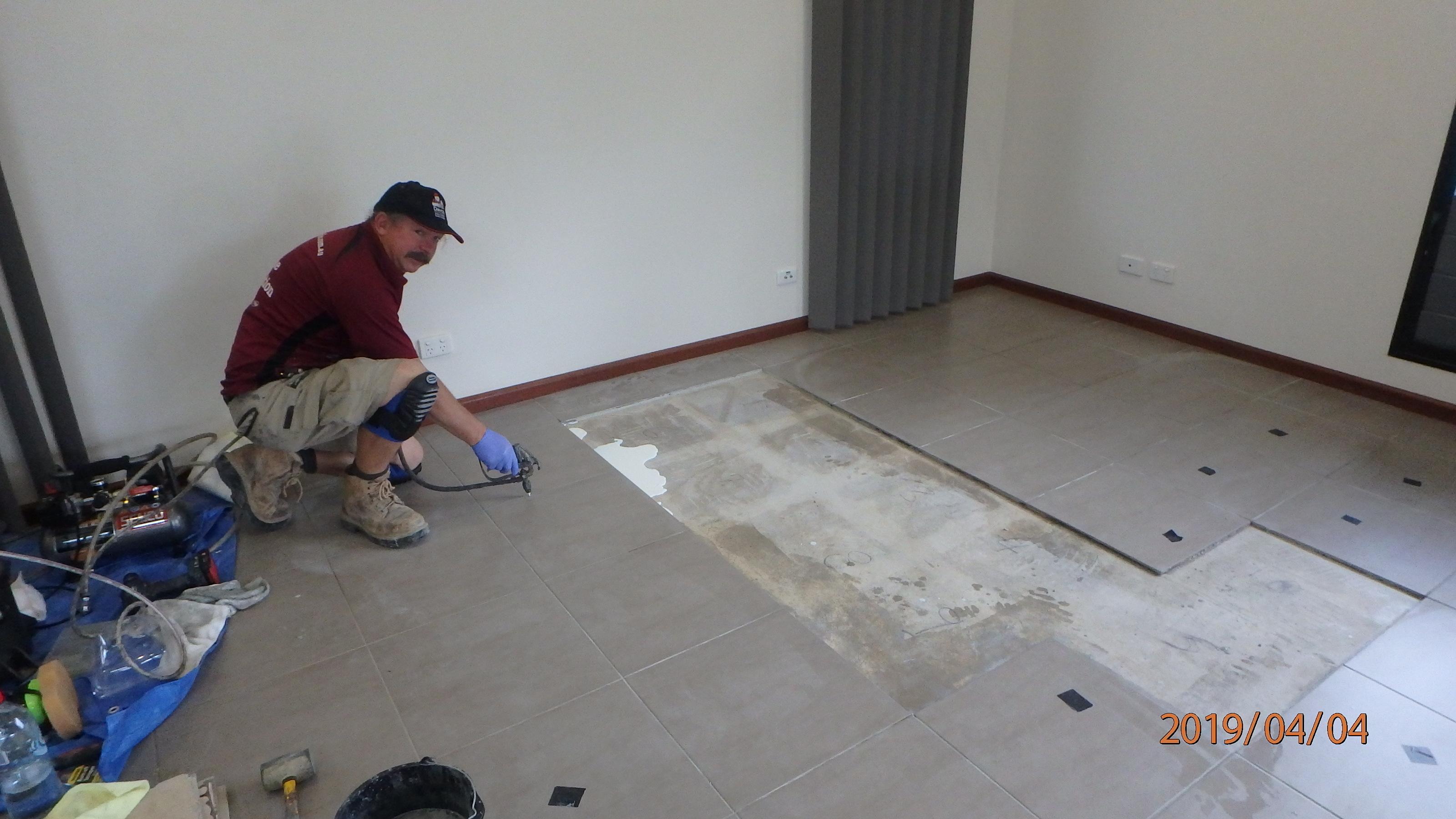 tile replacement job