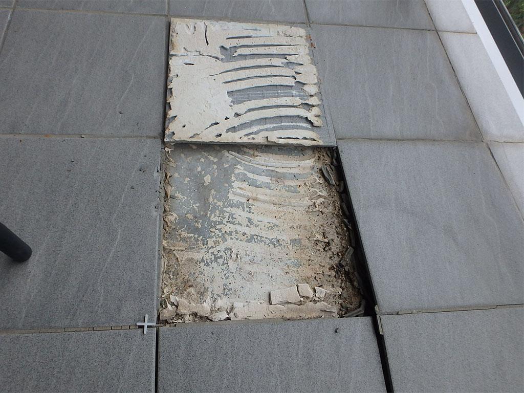 loose grey tiles
