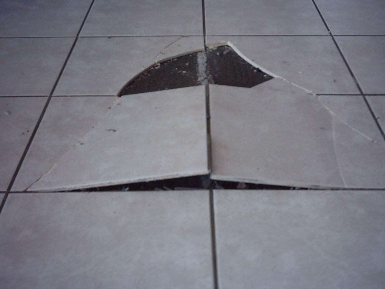 Tiles peaked floor